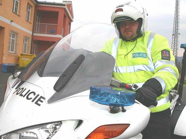 Řidič motohlídky Martin Sedláček testuje novou Hondu