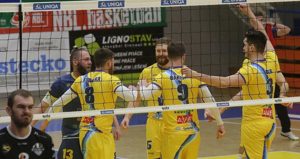 Volejbalové utkání Ústí – Beskydy.