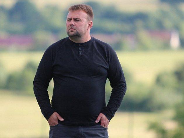 Šéf střídačky Libouchce Václav Strádal.