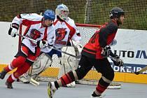 Pěkný hokejbal se v Ústí nehraje jen v extralize.