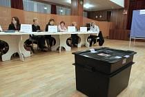 Volební místnost se otevřela také v bývalém kulturním domě Corso v Krásném Březně.