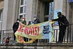 Protestní akce skupiny Extinction Rebellion v Ústí nad Labem