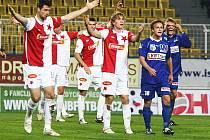 Jeden ze šlágrů 12. kola první fotbalové ligy Ústí n. L.– Slavia (1:1) přinesl hodně vzrušujících momentů.