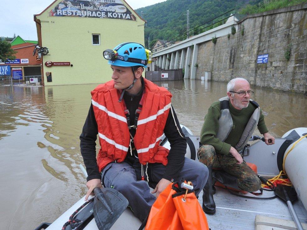 Povodeň ve Vaňově, čtvrtek 6. června 2013.
