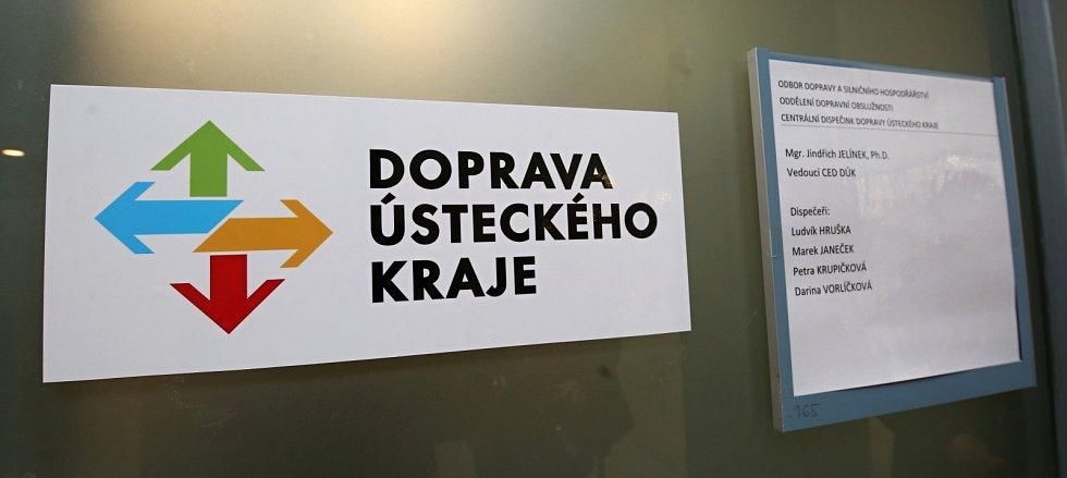 Centrální dispečink dopravy Ústeckého kraje v budově krajského úřadu