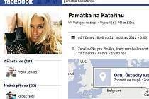 Facebooková stránka Památka na Kateřinu.
