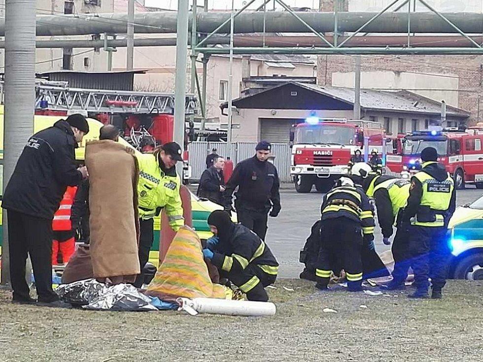 Požár v Hrbovické ulici v Předlicích.