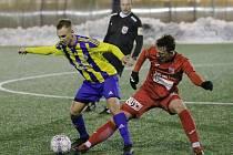 Fotbalové utkání Ústí a Litoměřice, zimní příprava