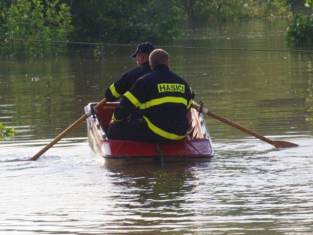 Povodně ve Svádově.