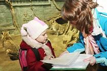 Prvňáčci Základní školy Velké Březno dostali své první vysvědčení v pavilonu šelem. Adoptovali si také želvu zubatou.