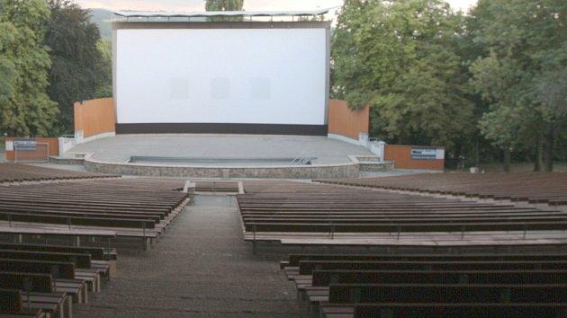 Letní kino v Ústí nad Labem.