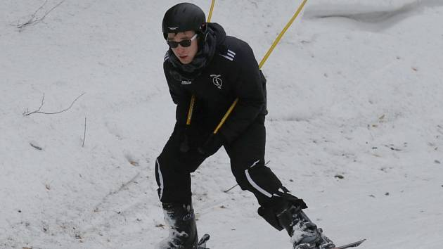 Podmínky pro lyžování v Telnici byly výborné.