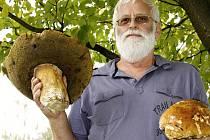 Na podobný úlovek, jakým se vloni pochlubil Miroslav Kulich z Teplic si letos ještě houbaři musí počkat.