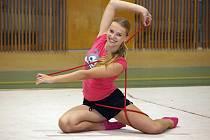 NA TRÉNINKU. Čtrnáctiletá Kateřina Hanušová.