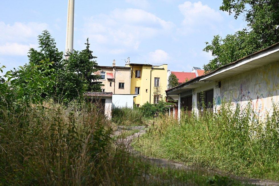 Nevzhledné místo ve Střekově.