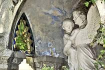 Hrobka rodiny Futerových na hřbitově v Krásném Březně.