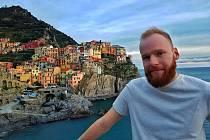 Student UJEP Michal Kubů v Itálii