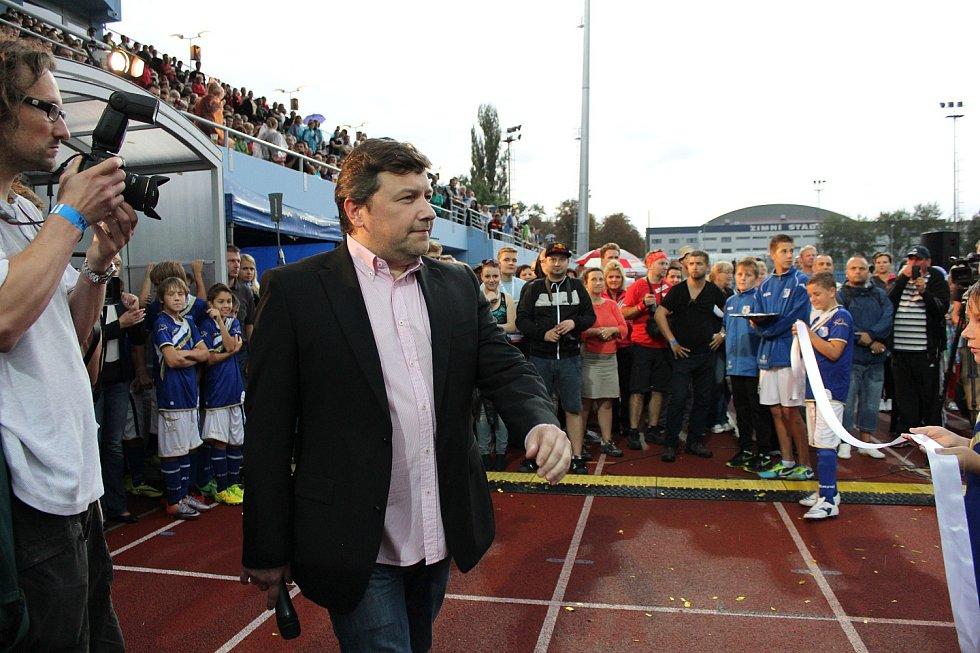 Slavnostní otevření městského stadionu v Ústí