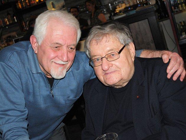 Oslava 80 let swingaře z Ústí a hráč v orchestrech, klavíristy Pavla Jeřábka.