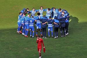 Fotbalisté Ústí nad Labem slaví výhru, ilustrační foto