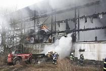 Požár zemědělského objektu v Malšovicích