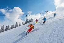 Lyžařské středisko Wilder Kaiser leží v Rakousku hned za hranicemi s Německem.
