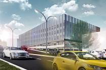 Parkovací dům by měl vyřešit zoufalou situaci s parkováním v areálu ústecké Masarykovy nemocnice. Vyrůst by měl do dvou let, přijde na zhruba 250 milionů korun. Vznikne zde devět nadzemních podlaží a tři podzemní.