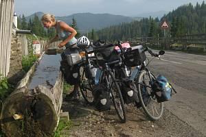 Napájení v rumunských horách.