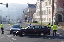 Čtvrteční nehoda u Městských lázní.
