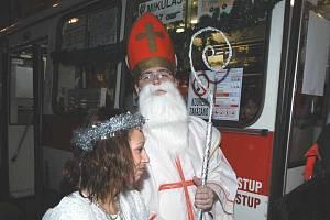 Mikulášský trolejbus měl premiéru