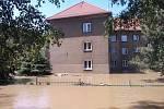 Voda na Střekově.
