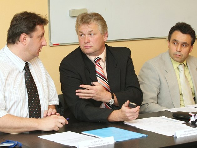 Petr Fiala, René Budjač a Eduard Reichelt.