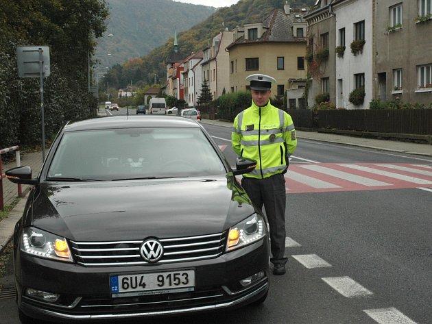 Jeden z policejních passatů ve Vaňově.