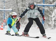 Den sportu bez hranic Ski areál Zadní Telnice.