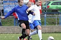 Fotbalisté Chuderova (vpravo Rohlík) zakončili podzimní část sezony na druhé příčce.