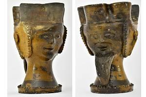 Svatební pohár z 15. století vykopaný v Ústí při dostavbě magistrátu v roce 1977