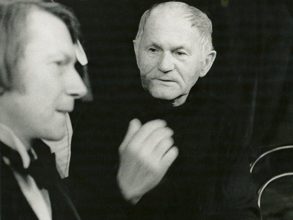 Josef Dvořák a Bohumil Hrabal.