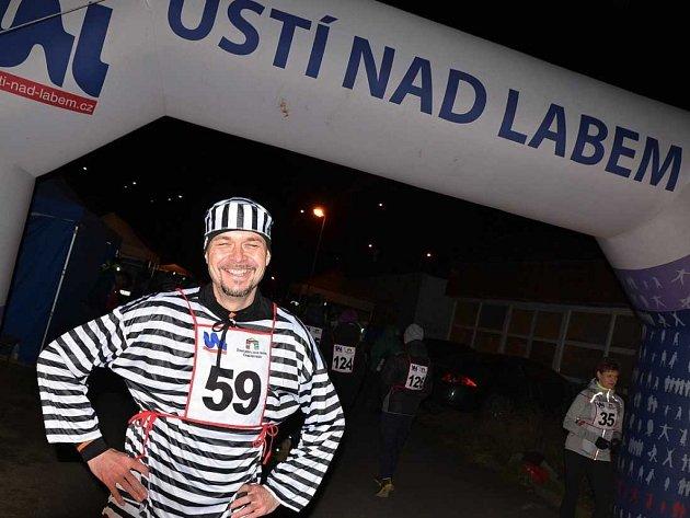 Noční běh v Ústí nad Labem.