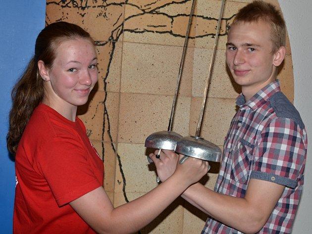 Na mistrovství republiky v Olomouci kadeti Barbara Měšíčková a David Žižka uspěli.