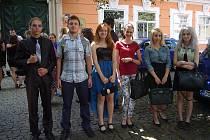 Studenti byli na francouzském velvyslanectví.