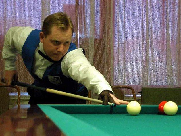 Hráč kulečníku Martin Vedral
