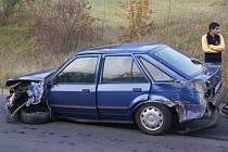 Po nárazu je auto vážně poškozené