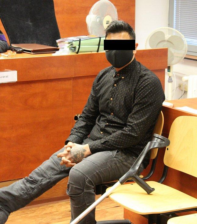 Radek H. v úterý 9. února u ústeckého krajského soudu