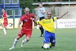 Ústečtí fotbalisté (červení) remizovali na půdě Zlína 0:0.
