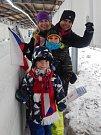 Rodina Kornutovských z Karlových Varů viděla bobové závody poprvé naživo.