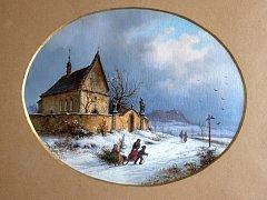 Nejstarší obrazový záznam vánočních stromků od Ernsta Gustava Doerella.