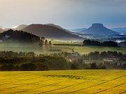 Saská stolová hora Lilienstein.