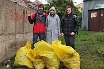 Fotka z akce čističů v Ústí u Západního nádraží