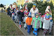 Školní masopust v Krásném Březně.