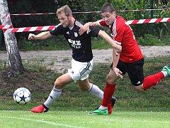 předkolo MOL Cup, Brná-Zbuzany, 16.7.2017Kordiak obral Rakishtenlieva (vpravo)(foto: Deník/Rudolf Hoffmann)